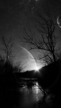 Dark Moonlight.Black wallpaper screenshot 2