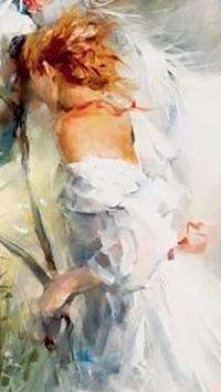 Painting.Lady.Live wallpaper screenshot 1