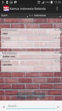 Dutch Indonesian Dictionary apk screenshot