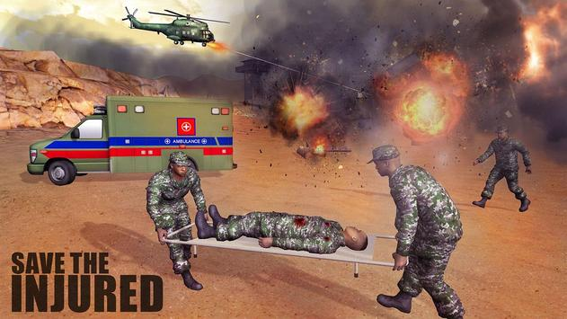 US Army Ambulance Rescue Game. poster