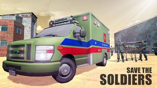 US Army Ambulance Rescue Game. screenshot 1