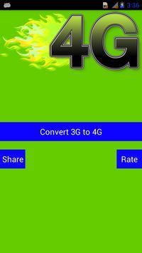 3G to 4G Converter Prank poster