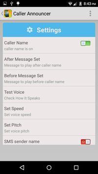 Caller Name Announcer Free apk screenshot