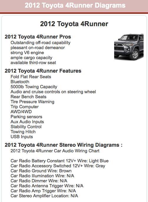 japanese car stereo wiring diagrams screenshot 3