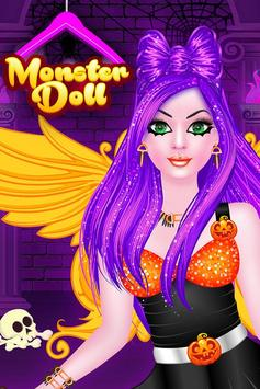 Monster Doll Fashion Salon Dress Up Game poster
