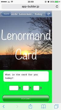 Cards Lenorman.Todays fortune. screenshot 1