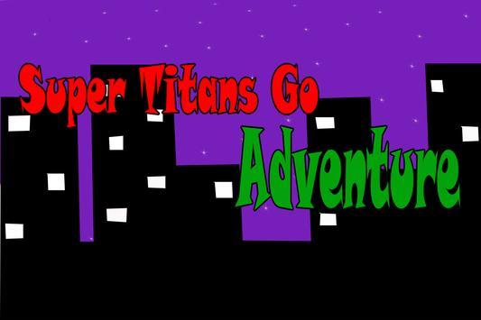 super titans go city game poster