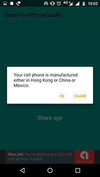 Know Your Phone Quality apk screenshot