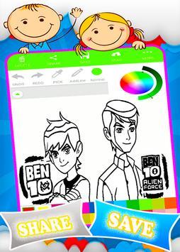 Coloring Ben 10 Game Screenshot 14