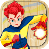 Paint superheroes icon