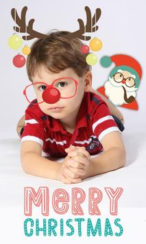 Christmas photo stickers kids poster