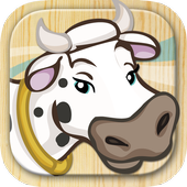 Farm Animals coloring book pages icon