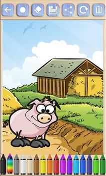 Farm Animals coloring book pages apk screenshot