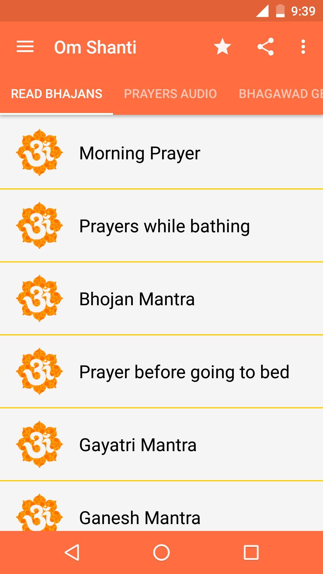 Om Shanti - Hindu Prayer App for Android - APK Download