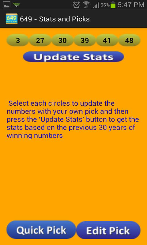 Quick Pick 649 / Lucky Dip 649 for Android - APK Download