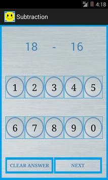 Subtraction screenshot 1