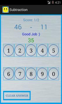 Subtraction screenshot 3