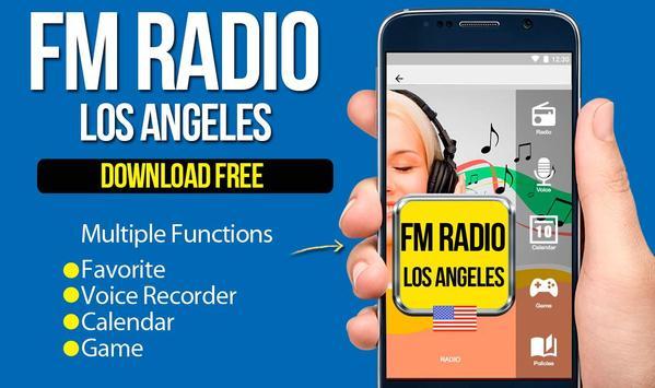 FM Radio Los Angeles California poster