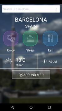 Barcelona Travel Guide poster