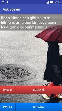 Aşk Sözleri poster