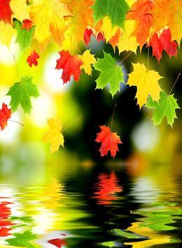 Falling Leaf Wallpaper poster