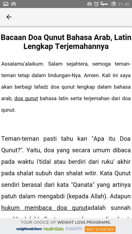 Doa Qunut Pake Bahasa Indonesia Hijabikacom
