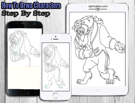 How To Draw Disney Characters apk screenshot