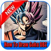 How to draw goku DBZ icon