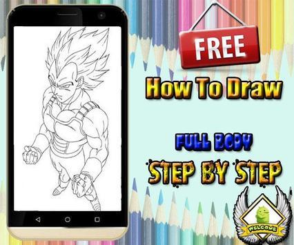 How to draw goku DBZ apk screenshot