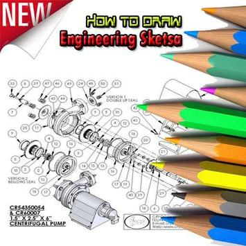 How to draw engine poster