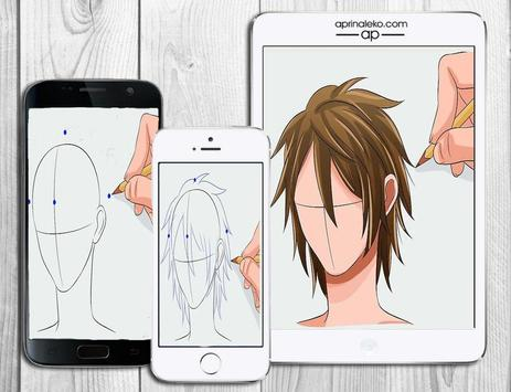 Learn to draw hair poster
