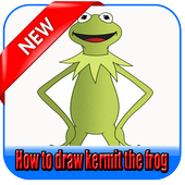 How to draw kermit the frog icon