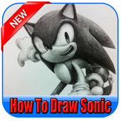 How to draw sonic icon