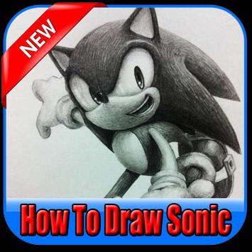 How to draw sonic poster