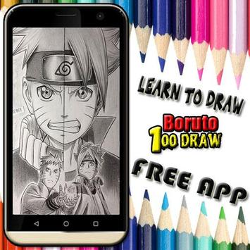 Learn to draw boruto poster