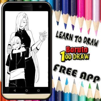 Learn to draw boruto apk screenshot