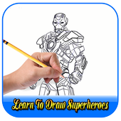 Learn to draw superheroes icon