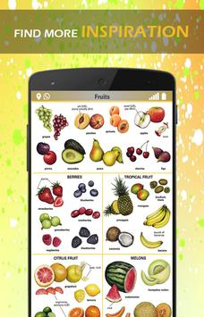 Fruits and Vegetables Learning poster