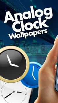 Analog Clock Live Wallpaper App poster