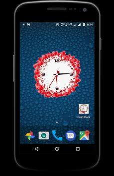 Heart clock live wallpaper free screenshot 8