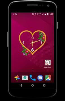 Heart clock live wallpaper free screenshot 9