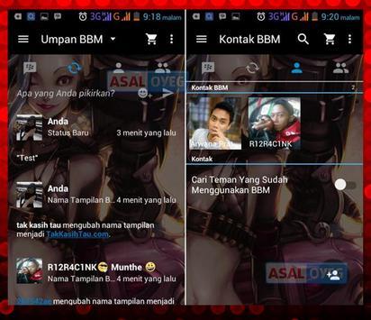 Tema BBM Transparan apk screenshot