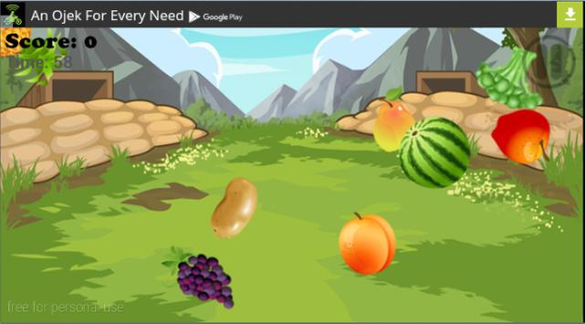 Simple and Funny Fruit Slice screenshot 1