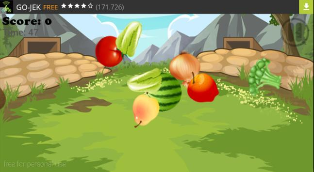 Simple and Funny Fruit Slice screenshot 2