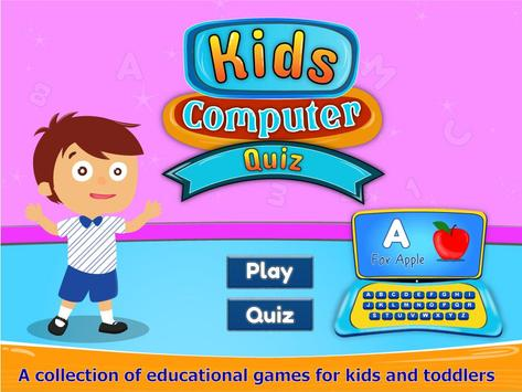 Kids Computer Learning Quiz poster