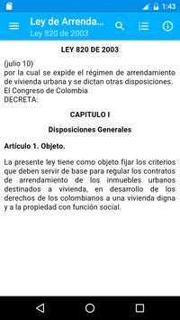 Ley de Arrendamientos Colombia poster