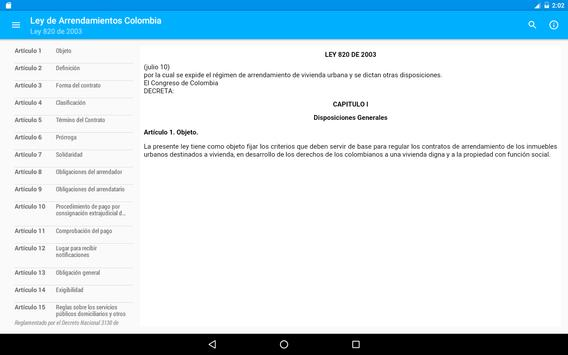 Ley de Arrendamientos Colombia apk screenshot