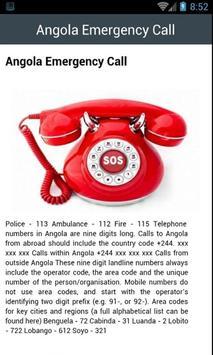 Angola Emergency Call screenshot 1