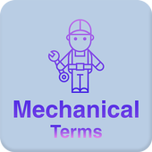 Mechanical dictionary and terms icon