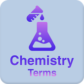 Chemistry dictionary and terms icon